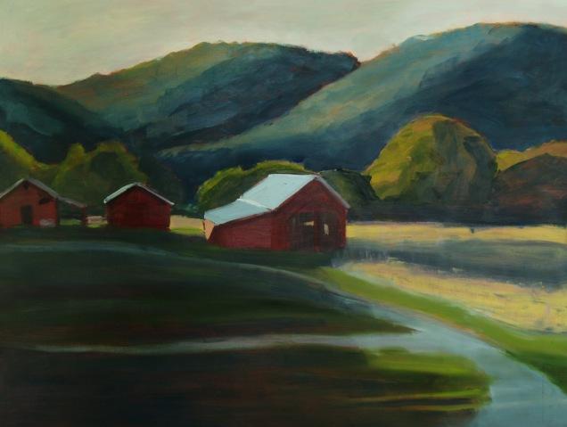 Evening (Barns) (Sold)