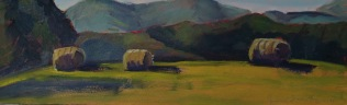 Hay Bales in the Morning (Sold)