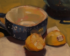 Tea Cup and Halved Lemon (sold)