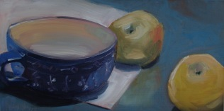 Tea Cup with Two Apples (sold)