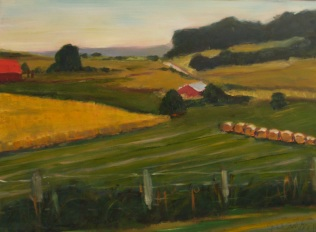 Barn and Bales 2 (Sold)