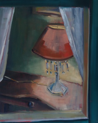Lamp with Glass Tear Drops (sold)