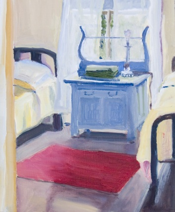 Yellow Blanket, Red Rug (Sold)