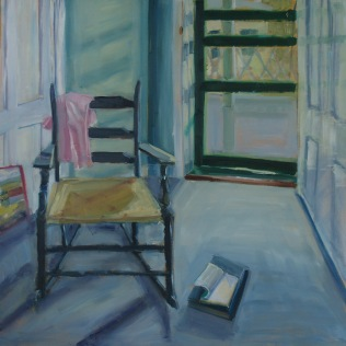 Pink Shirt with Rocking Chair (sold)