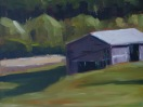 Barn, oil on panel, 9x12