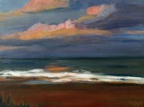 Emerald Isle, oil on panel, 9x12