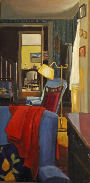 Seven Chairs and One Hat, Oil on Panel, 60x30