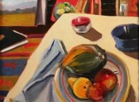 Studio Still Life, Oil on Panel, 18x24, Framed