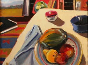 Studio Still Life, Oil on Panel, 18x24, Framed