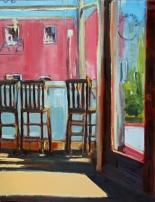 Sub Rosa Morning, oil on panel, 16x20