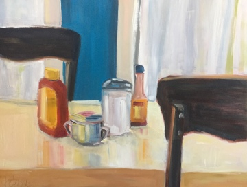 Condiments, oil on panel, 18x24