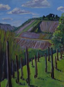 Rhine Vineyards, oil on canvas, 30x40