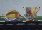 Lemon and Tea Cup, oil on panel, 9x12