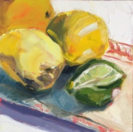 Staged Lemons and Lime Oil on Panel 6x6